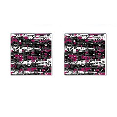 Magenta, White And Gray Decor Cufflinks (square) by Valentinaart