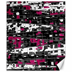 Magenta, White And Gray Decor Canvas 20  X 24   by Valentinaart