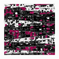 Magenta, White And Gray Decor Medium Glasses Cloth by Valentinaart