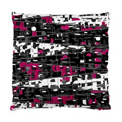 Magenta, White And Gray Decor Standard Cushion Case (two Sides) by Valentinaart