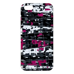 Magenta, White And Gray Decor Apple Iphone 5 Premium Hardshell Case by Valentinaart