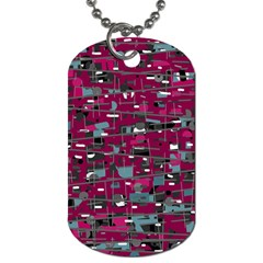 Magenta Decorative Design Dog Tag (one Side) by Valentinaart