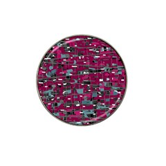 Magenta Decorative Design Hat Clip Ball Marker by Valentinaart