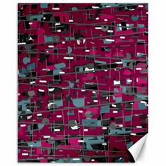 Magenta Decorative Design Canvas 16  X 20   by Valentinaart