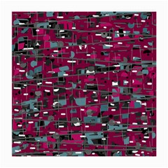 Magenta Decorative Design Medium Glasses Cloth (2-side) by Valentinaart