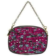 Magenta Decorative Design Chain Purses (two Sides)  by Valentinaart