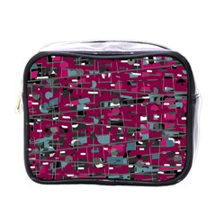 Magenta Decorative Design Mini Toiletries Bags by Valentinaart