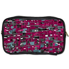 Magenta Decorative Design Toiletries Bags by Valentinaart