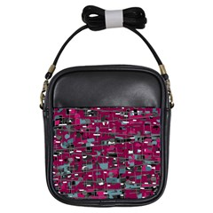 Magenta Decorative Design Girls Sling Bags by Valentinaart