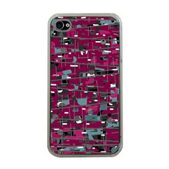 Magenta Decorative Design Apple Iphone 4 Case (clear) by Valentinaart