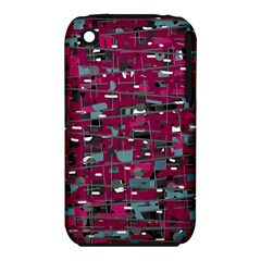 Magenta Decorative Design Apple Iphone 3g/3gs Hardshell Case (pc+silicone) by Valentinaart