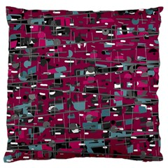 Magenta Decorative Design Large Flano Cushion Case (two Sides) by Valentinaart