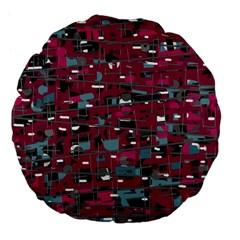 Magenta Decorative Design Large 18  Premium Flano Round Cushions by Valentinaart