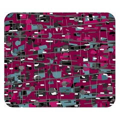 Magenta Decorative Design Double Sided Flano Blanket (small)  by Valentinaart