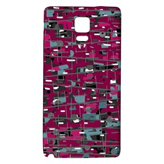 Magenta Decorative Design Galaxy Note 4 Back Case by Valentinaart