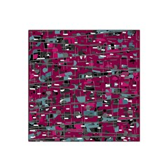 Magenta Decorative Design Satin Bandana Scarf