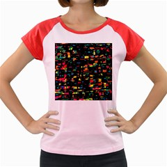 Playful Colorful Design Women s Cap Sleeve T-shirt by Valentinaart