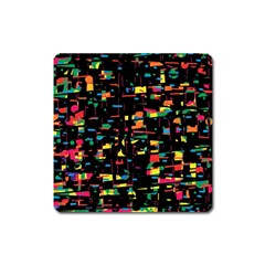 Playful Colorful Design Square Magnet by Valentinaart