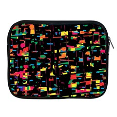 Playful Colorful Design Apple Ipad 2/3/4 Zipper Cases by Valentinaart