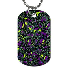 Purple And Yellow Decor Dog Tag (one Side) by Valentinaart