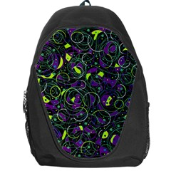 Purple And Yellow Decor Backpack Bag by Valentinaart