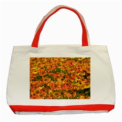 Helenium Flowers And Bees Classic Tote Bag (red) by GiftsbyNature