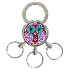 Owl 3 Ring Key Chains