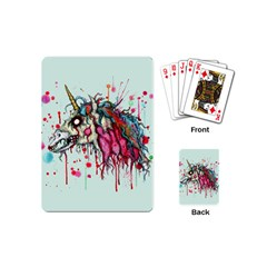 Zombie Unicorn Playing Cards (mini)  by lvbart