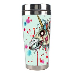 Zombie Unicorn Stainless Steel Travel Tumblers by lvbart