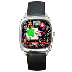 Colorful Facroty Square Metal Watch by Valentinaart
