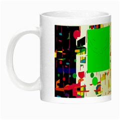 Colorful Facroty Night Luminous Mugs by Valentinaart