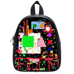 Colorful Facroty School Bags (small)  by Valentinaart