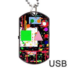 Colorful Facroty Dog Tag Usb Flash (two Sides)  by Valentinaart