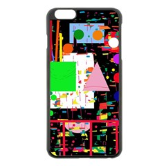 Colorful Facroty Apple Iphone 6 Plus/6s Plus Black Enamel Case by Valentinaart