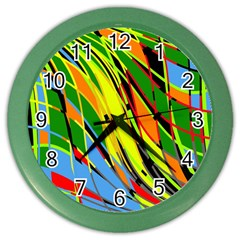 Jungle Color Wall Clocks by Valentinaart