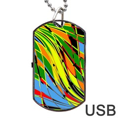 Jungle Dog Tag Usb Flash (one Side) by Valentinaart