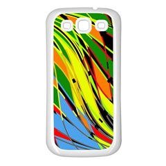 Jungle Samsung Galaxy S3 Back Case (white) by Valentinaart