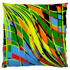 Jungle Large Flano Cushion Case (one Side) by Valentinaart
