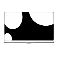 Black And White Moonlight Business Card Holders by Valentinaart