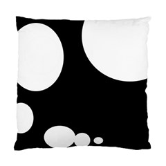 Black And White Moonlight Standard Cushion Case (two Sides) by Valentinaart