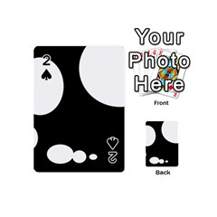 Black And White Moonlight Playing Cards 54 (mini)  by Valentinaart