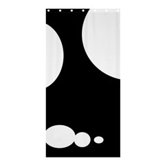 Black And White Moonlight Shower Curtain 36  X 72  (stall)  by Valentinaart