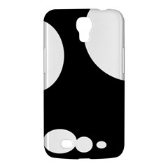 Black And White Moonlight Samsung Galaxy Mega 6 3  I9200 Hardshell Case by Valentinaart