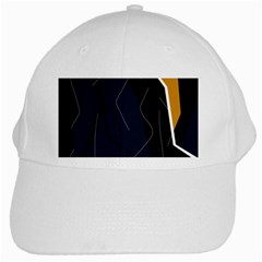 Digital Abstraction White Cap by Valentinaart