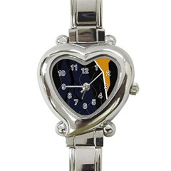 Digital Abstraction Heart Italian Charm Watch by Valentinaart