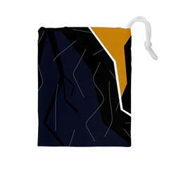 Digital Abstraction Drawstring Pouches (large)  by Valentinaart