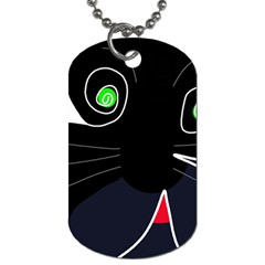 Big Cat Dog Tag (two Sides) by Valentinaart