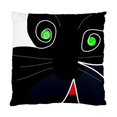 Big Cat Standard Cushion Case (one Side) by Valentinaart