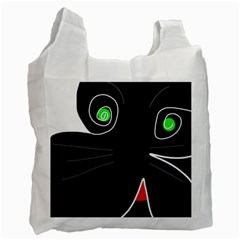 Big Cat Recycle Bag (two Side)  by Valentinaart