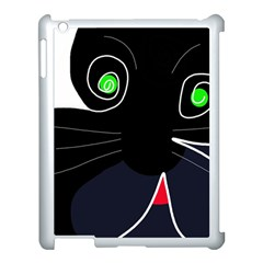 Big Cat Apple Ipad 3/4 Case (white) by Valentinaart
